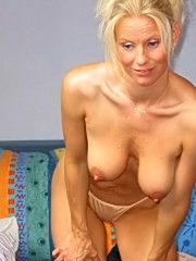 Hot and sexy housewife loves cum