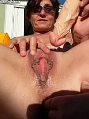 Real moms and wives from around getting fucked