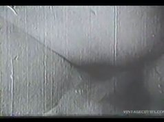 Antique close-up video of vintage couple fucking without any birth prevention