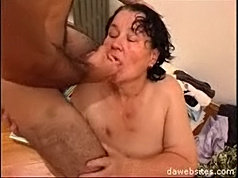 Horny old bitch begs a young guy to fuck her wet mature pussy really hard