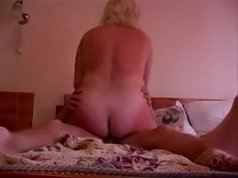 Horny young fucker cant' get enough of huge mature as on his cock