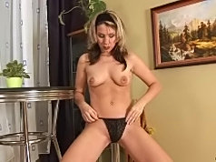 Janine devours a stiff cock with her eager mouth