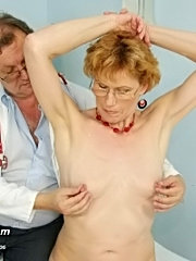Mature mila visits gyno doctor to have pussy speculum examined