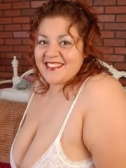 Fat bbw large pierced boobs chubby plumper posing