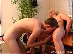 Young pussy lover bangs a horny old pussy really deep and hard