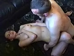 Old daddy ate her pussy and then fucked it hard
