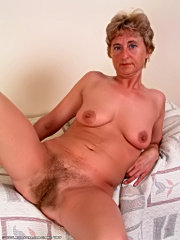 Mature full stretched hirsute busty old tits lick