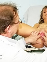 Vladimira has her mature vagina examined by skilled gyno doctor