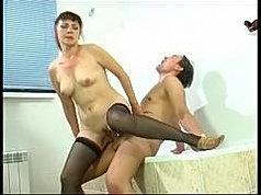Brassy mature chick with hot mature guy