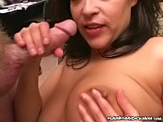 Sexy mature mom gets down and dirty with a horny young fucker