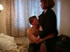 Young dick gives an old bitch some hardcore fucking to remember