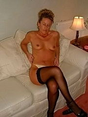 Mature blond with tiny tits sucks dick and asslicking