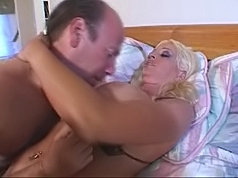 Big breasted blonde fucking wildly
