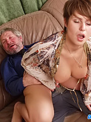 Old boss fucking young secretary in office