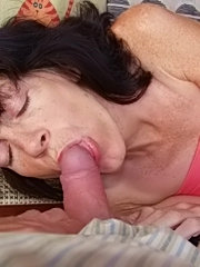 Mature horny amateur shows her nice tits and pussy