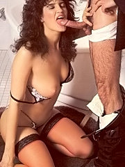 Hairy seventies lady enjoys a dick inside her