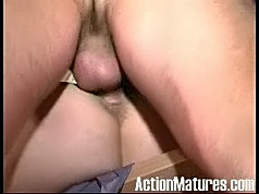 Mature and girl office lesbian licking action
