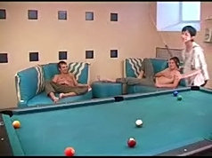 This mommy lost the pool game and has to pleasure these hot guys!