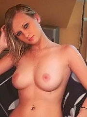 Big titted babe vanity voyager spreads her bumpy ass cheeks to give us a peek of thick silver dildo stabbed on her fresh pussy hole
