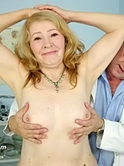 Sofie is the oldest gyno patient who visits kinky gyno clinic