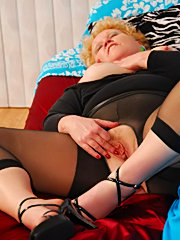 Hot movies representing red-haired mature slut under lover's pressure
