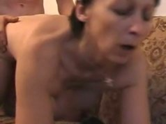 Mature housewife is fond of being banged by a hard young dick