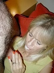 Sexy mature chick with massive butt posing nude and showing her pierced cunt