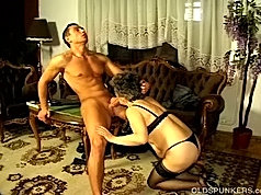 This old busty granny sure loved how that young cock drilled her fat ass