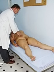 Fat mature radka gets real speculum exam by kinky gyno doctor