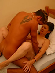 Milf didn't expect to see her son's friend so early but she wants to be fucked by a sweet guy right now