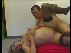 Horny granny gets hard cunt impaling