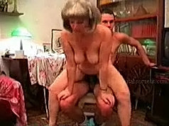 Blonde mommy teaches handsome guy how to fuck