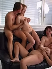 Mature wives at hotel swingers party