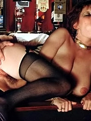 Hairy seventies slit fucked by two horny guys