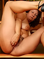Horny granny licking younger inmate
