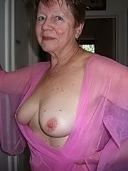 Big tit granny in sexy outfit