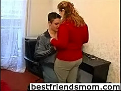 Young lad finds out that fucking his friend's mom is such a pleasure