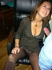 Mature lady pulled her ass one the table as they used to do in the college and with a groan lad thrust his throbbing dick inside her pussy