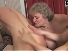 Mature mom in crazy old-young party