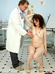 Old hairy pussy karla gets her pussy very detailed examined