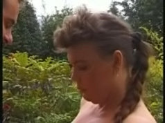 Mature plumper with huge melons fucking alfresco