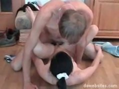 Horny mature housewife gets her pussy baked by a hard cock