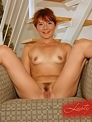 Erin the cute grany riding on the big black cock
