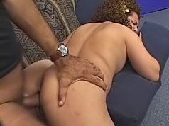 Big latina beauty takes it from both ends