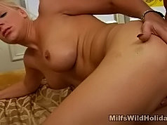 Sexy milf having her slit beaten with a fat cock