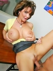 Tasty mom and hung jock hardcore titty fucking