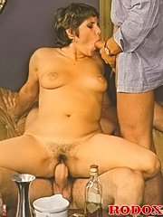 Seventies guys stuffing one thick lady crazy