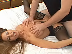 Stunning milf sucks cock got boned and gets cummed