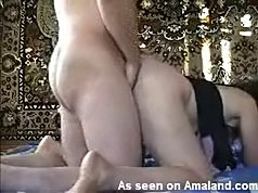 Wife's ass pounded hard