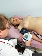 Blonde mature alena taking detailed gyno exam